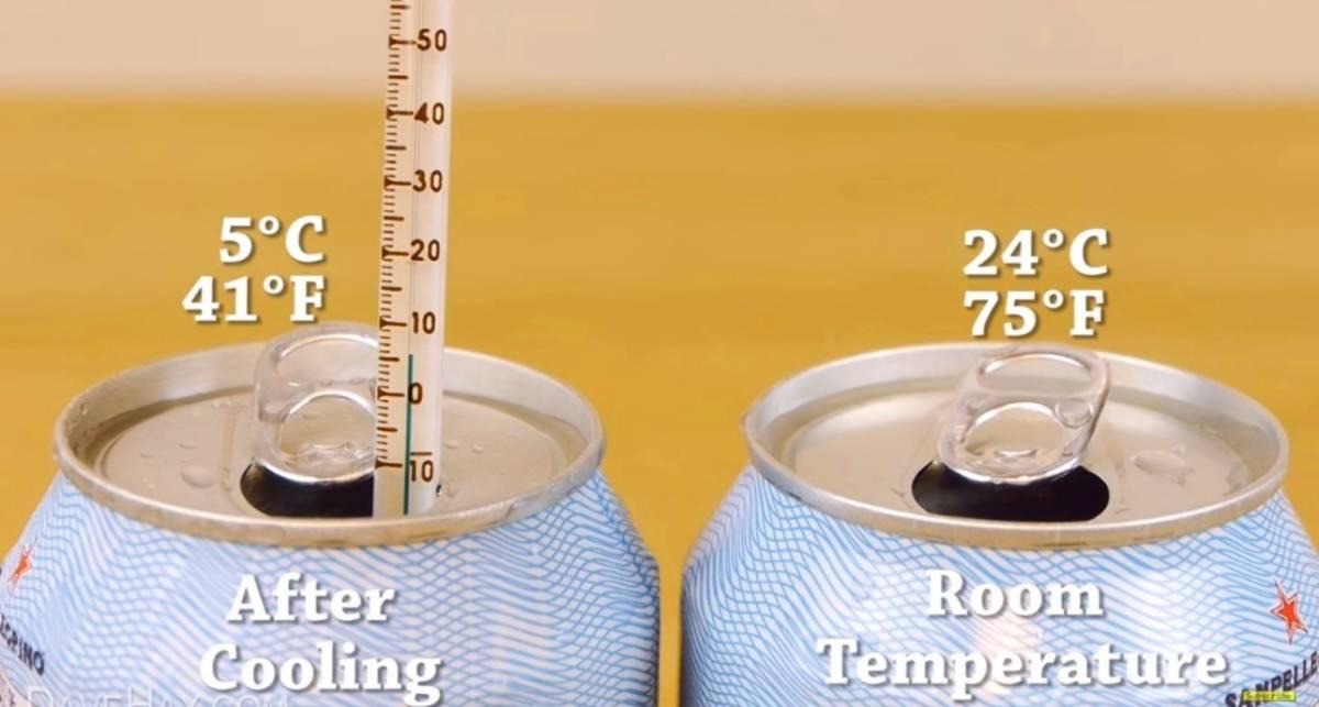 Как охладить лимонад до +5°C за 2 минуты