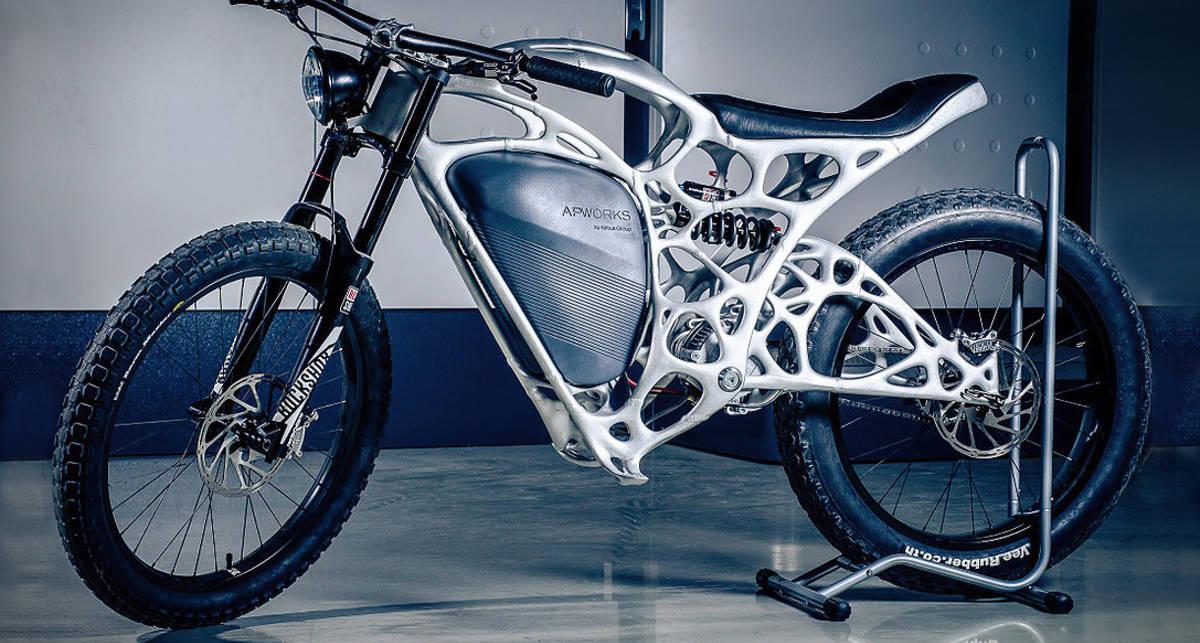 Мотоцикл-скелет, напечатанный на 3D-принтере