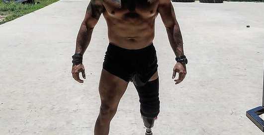 Пауэрлифтер без ноги: убойные тренировки американского солдата