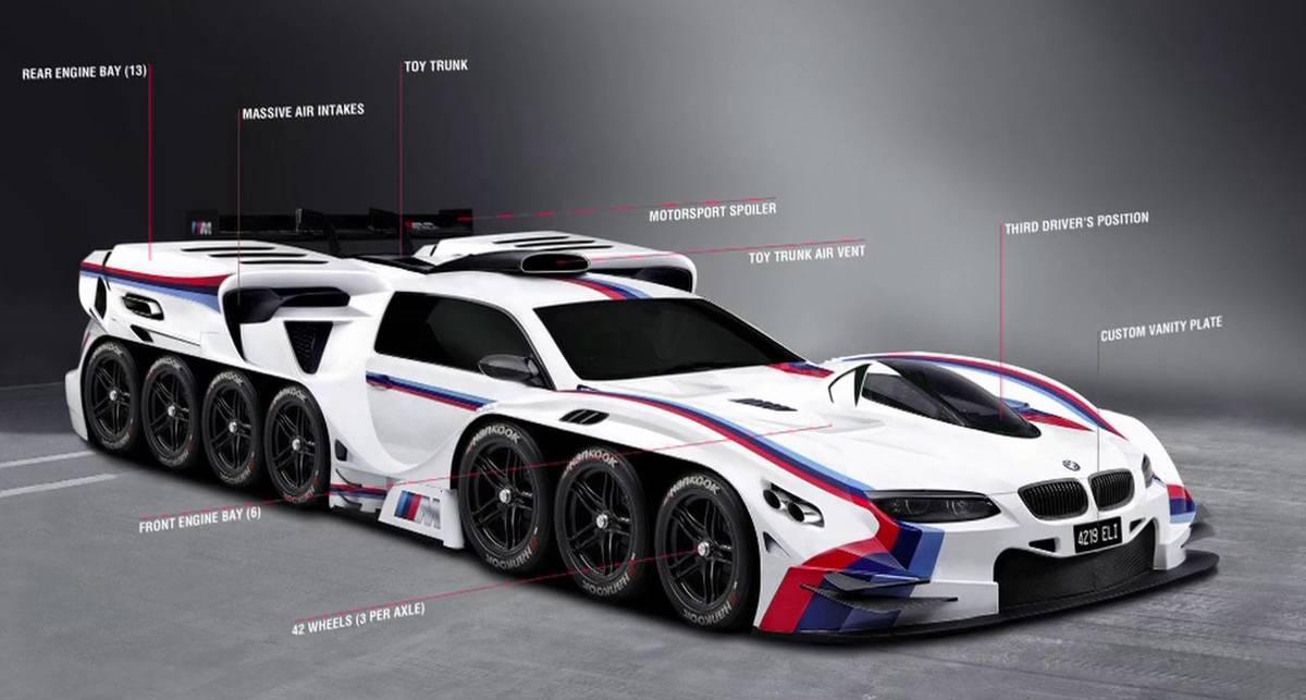 42-ножка BMW: инженеры нарисовали 8721-сильный суперкар