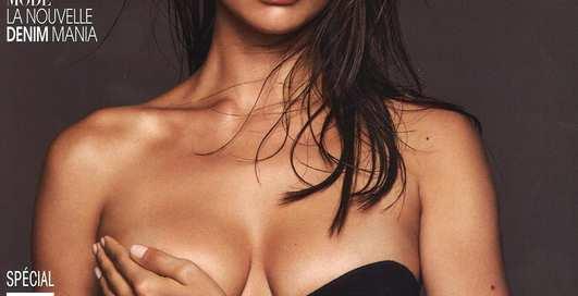 Ирина Шейк показала грудь читателям Mаdame Figaro