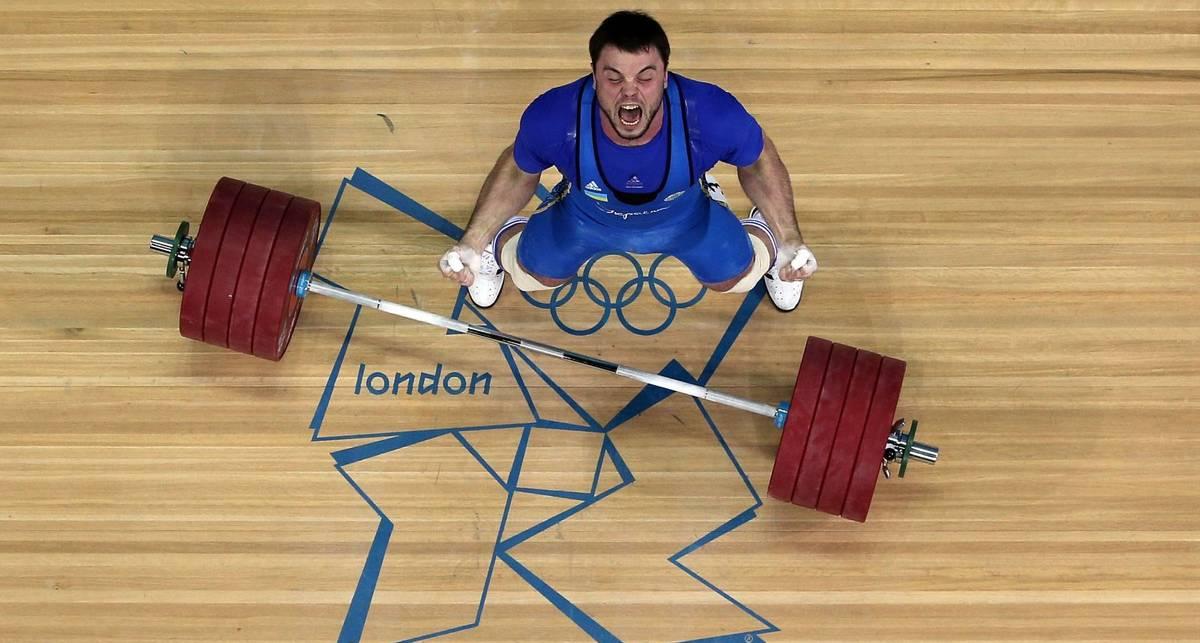 Убойный кач в исполнении олимпийского чемпиона