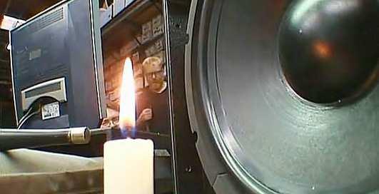 Могут ли звуковые волны потушить пламя