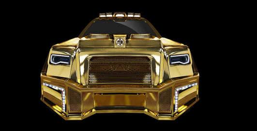 Black Alligator: латвийцы создали золотой внедорожник