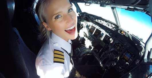 Красотка дня: милый пилот Мария Фагерстрем