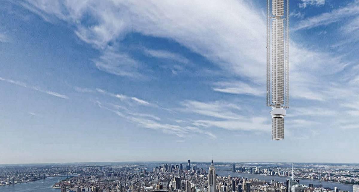 Приклеен к орбите: американцы показали небоскреб будущего