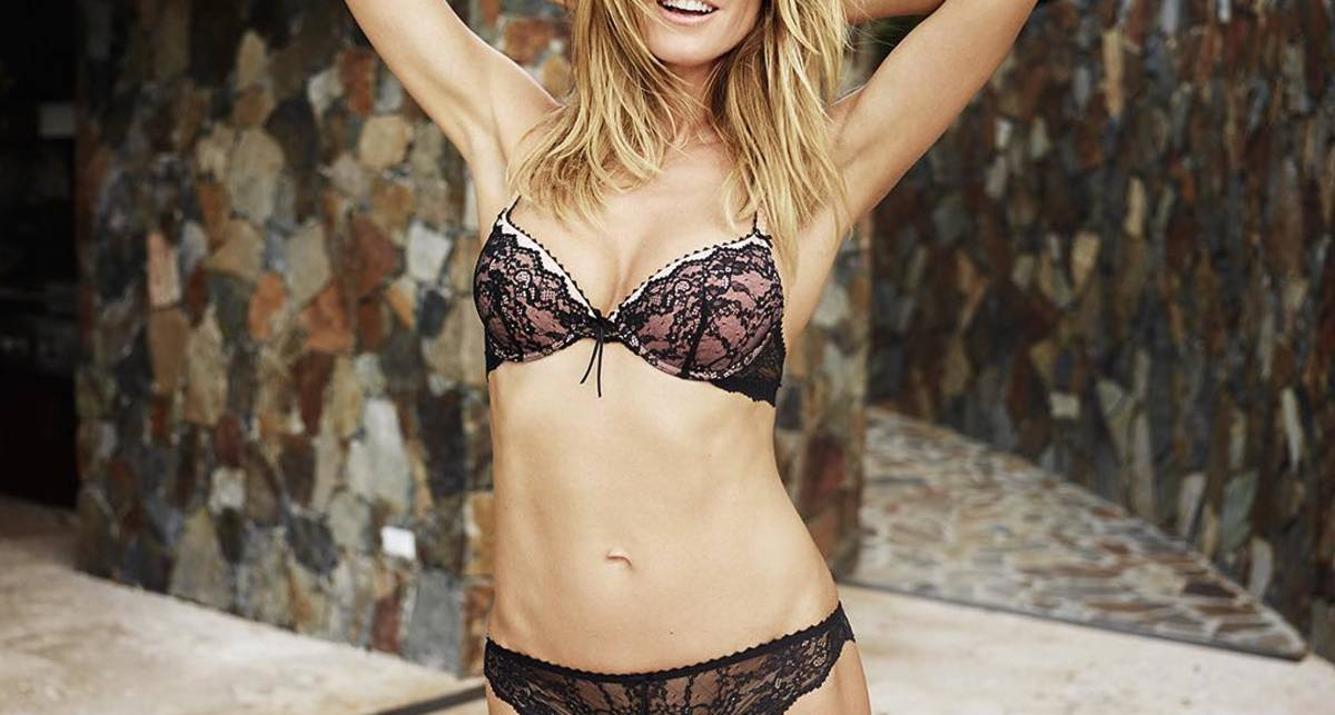 43-летняя Хайди Клум снялась в рекламе собственного белья