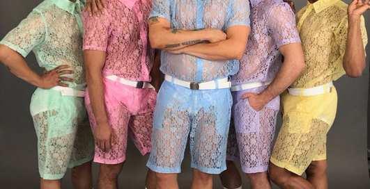 Тренд лета 2017: мерзкие кружевные шорты для мужчин