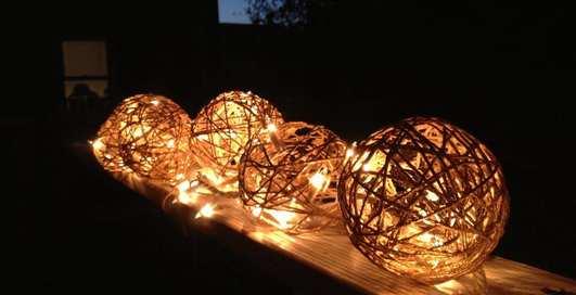Лайфхак: как сделать светильник своими руками