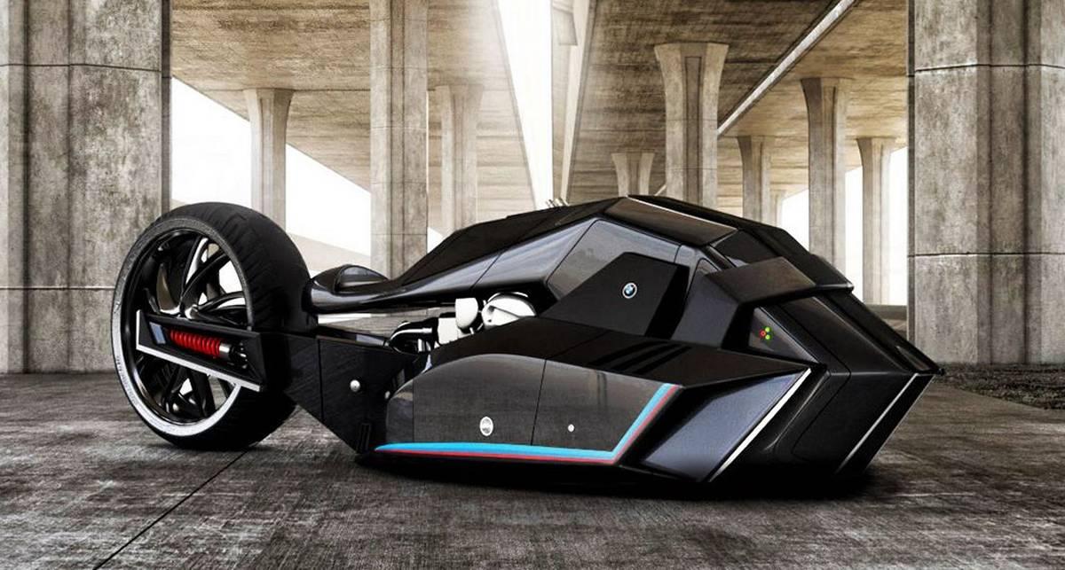 BMW Titan: футуристический байк в стиле Темного Рыцаря