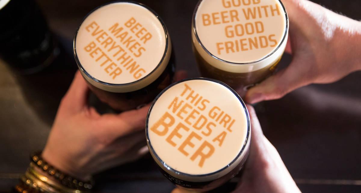 Пена с принтом: британцы научились печатать на пиве