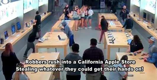 Преступление за 30 секунд: подростки ограбили магазин Apple