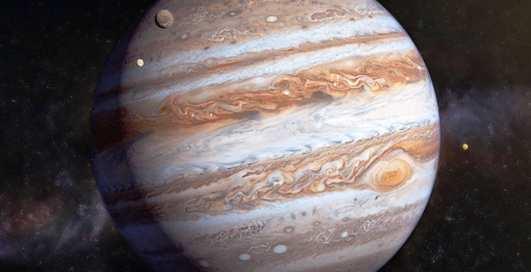 NASA опубликовало новый снимок атмосферы Юпитера