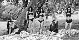 Сестры Кардашян-Дженнер в рекламе Calvin Klein