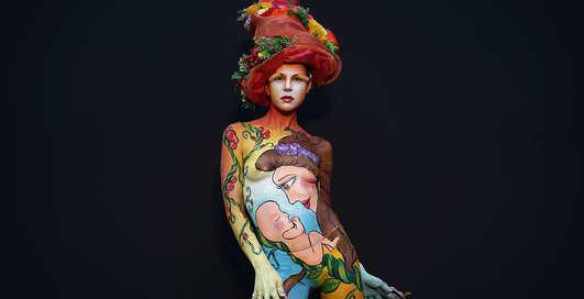 На голое тело: Лучшие образы фестиваля боди-арта в Южной Корее