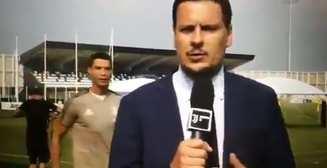 Роналду смешно спародировал журналиста