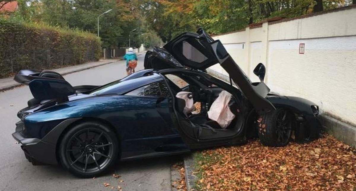 Новый гиперкар McLaren разбили через час после покупки