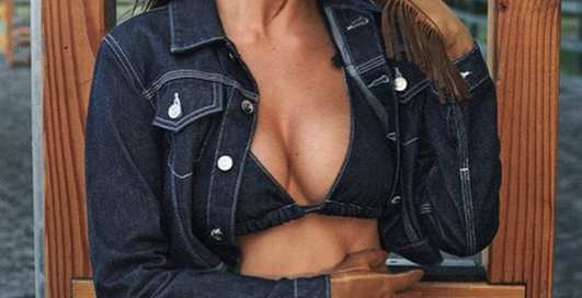 Горячие фотографии девушки Леонардо Ди Каприо из рекламы джинсов