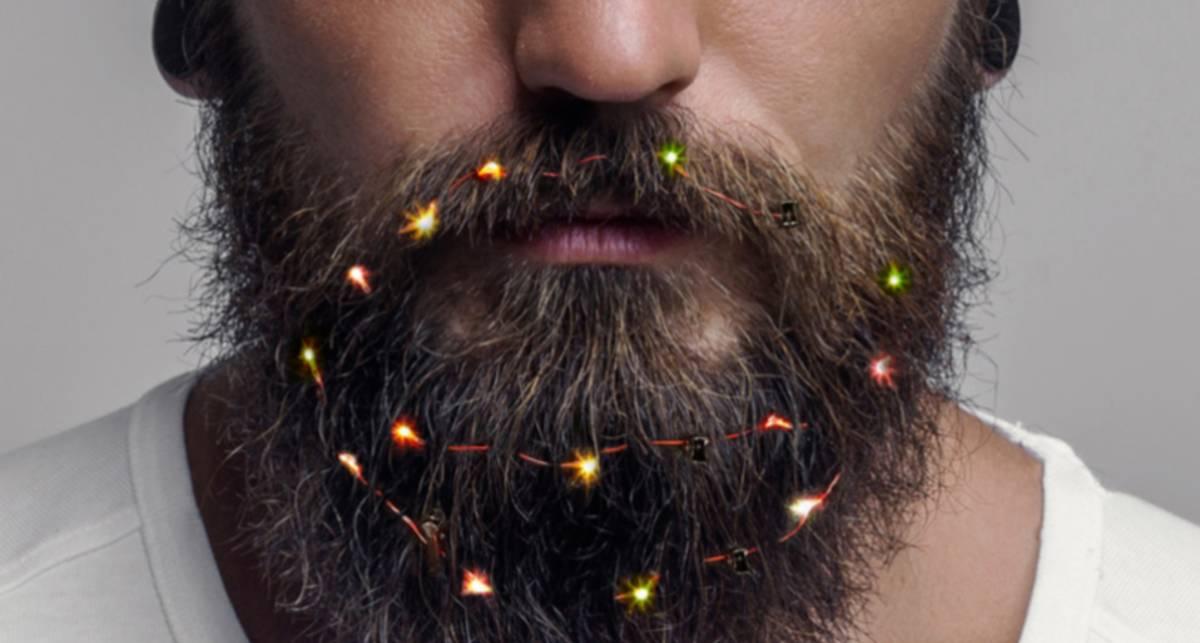 В Британии продают новогодние гирлянды для бороды