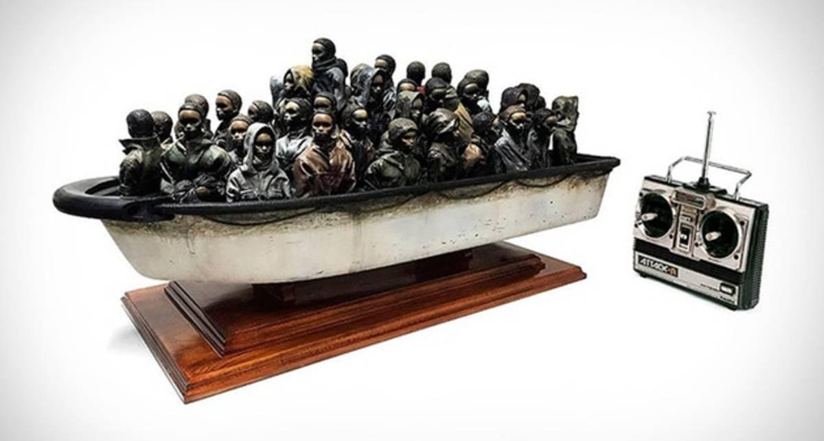 Уникальная возможность: скульптуру Бэнкси можно выиграть