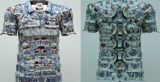 Китайцы создали футболку в осколках