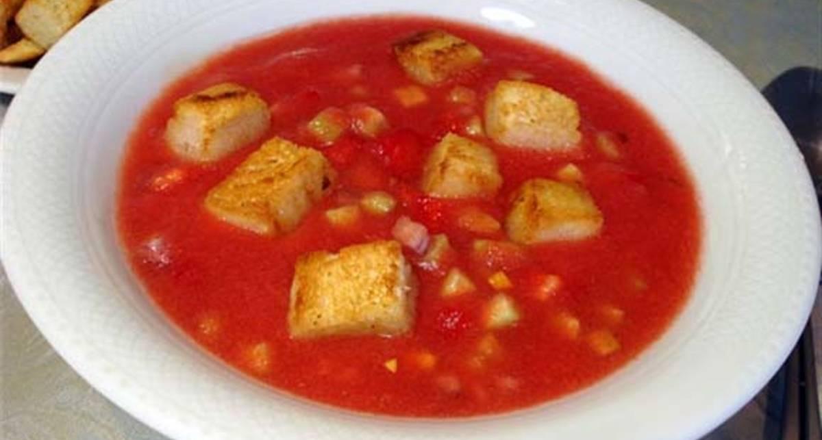 Готовим холодный испанский суп