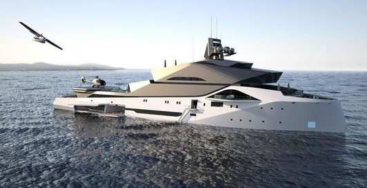 Создается первая в мире яхта-невидимка