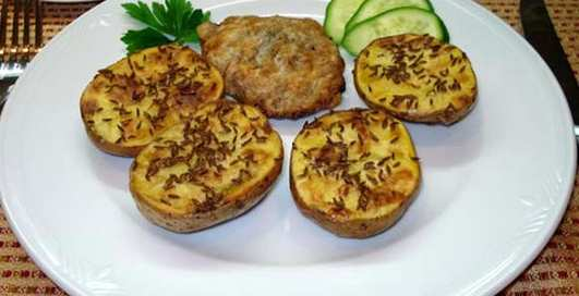 Готовим рейнский картофель с тмином