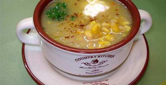 Вместо попкорна: Американский кукурузный суп