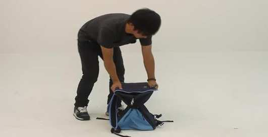 Сидячий рюкзак: устал, снял, присел