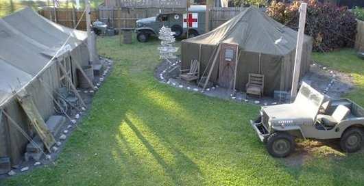 Американец построил дома военную базу