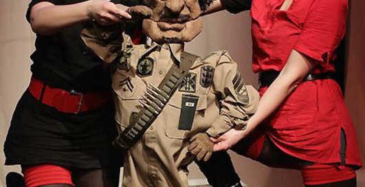 Каддафи стал звездой кукольного театра
