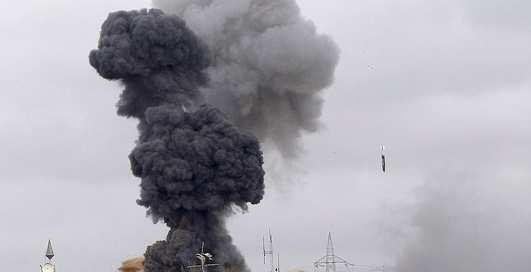 Как бомбили резиденцию Каддафи