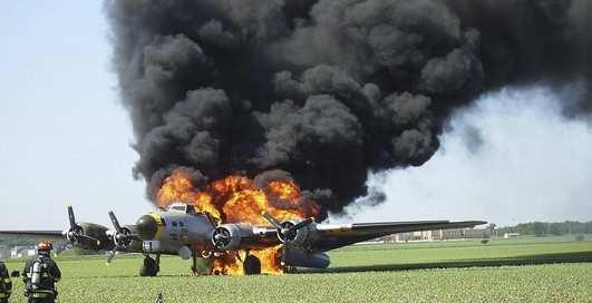 В США сгорел раритетный «бомбер»