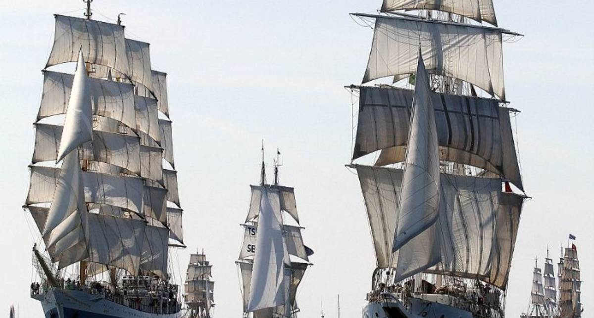 На всех парусах: гонки учебных фрегатов