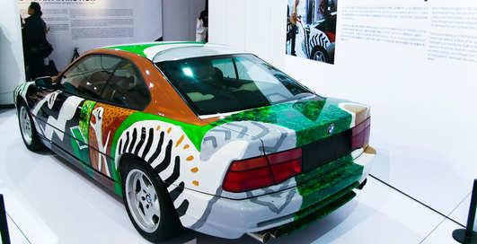 Машинки с выставки: BMW в стиле арт