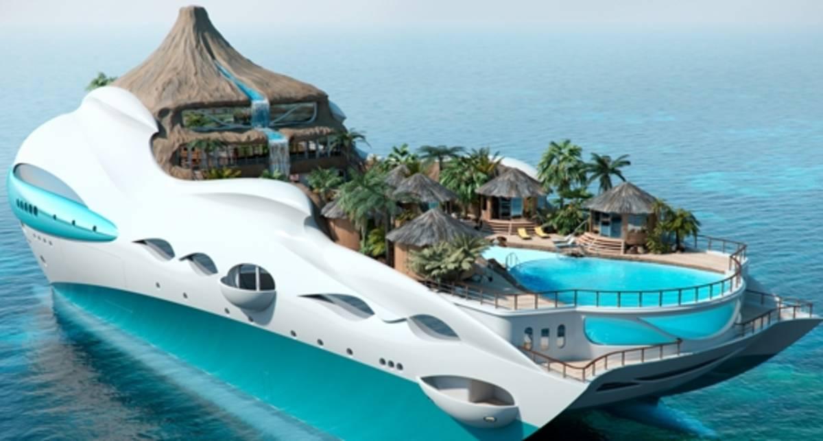 Мечта Абрамовича: роскошный остров-яхта