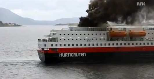 В Норвегии снова беда: пожар на корабле