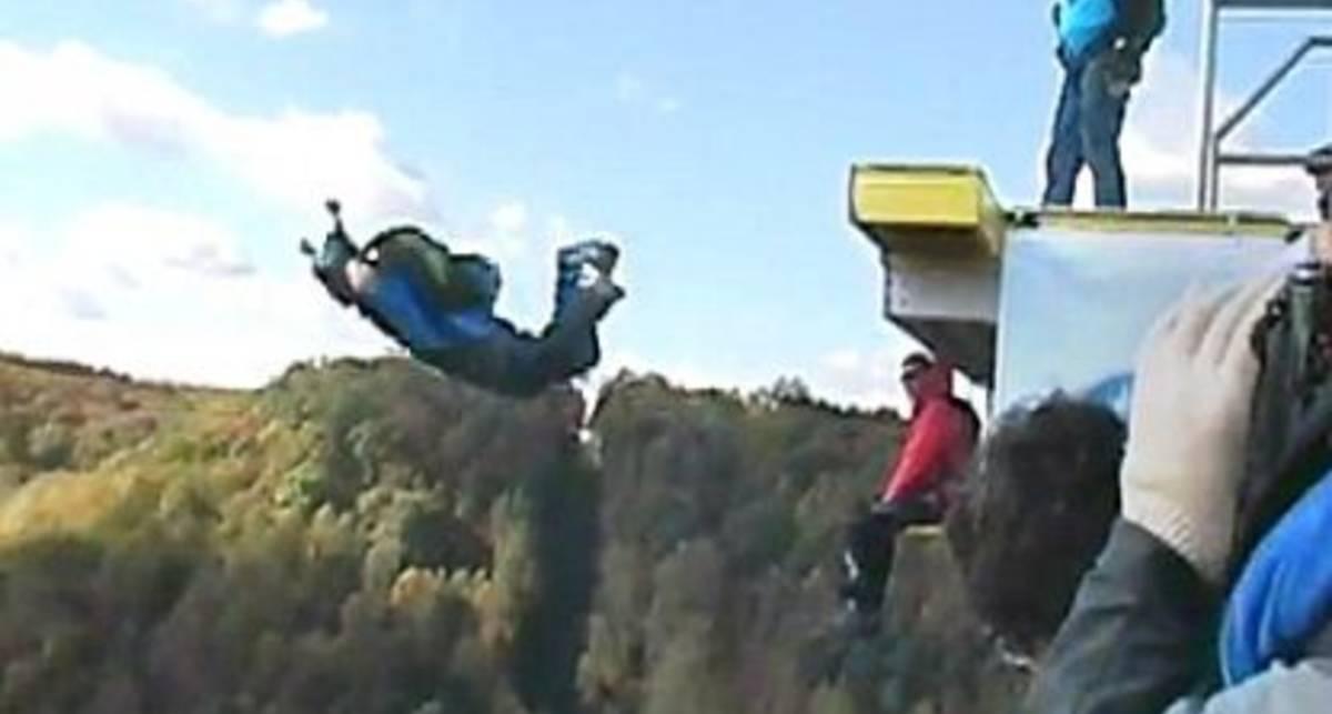 Допрыгался: у экстремала отказал парашют