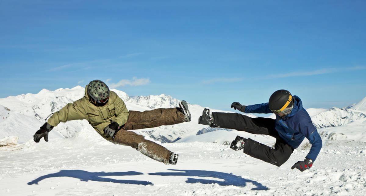 Приземление зимой: как упасть посмешнее