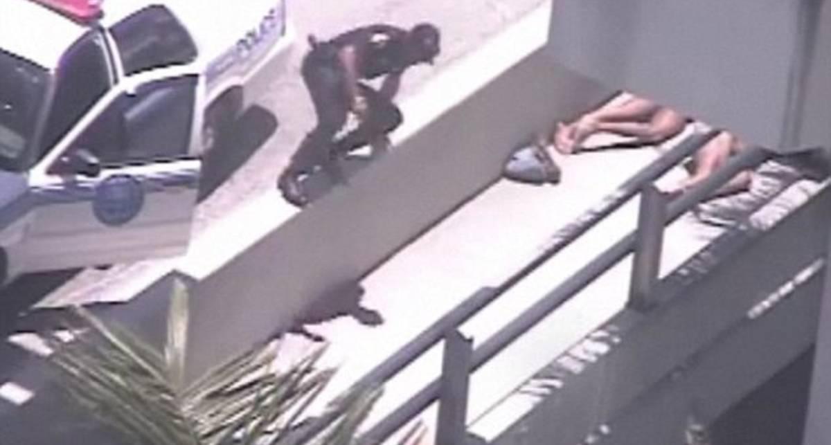Голого бомжа-людоеда застрелила полиция