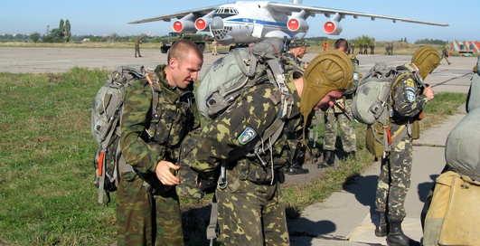 Десантники Украины прыгают по-новому