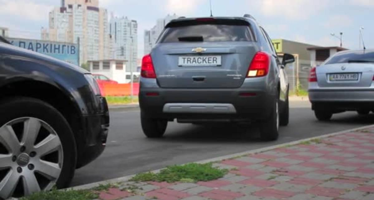 Парковка передним ходом на бордюре