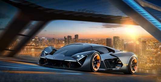 Бэтмобиль? Новый Lamborghini будет светиться