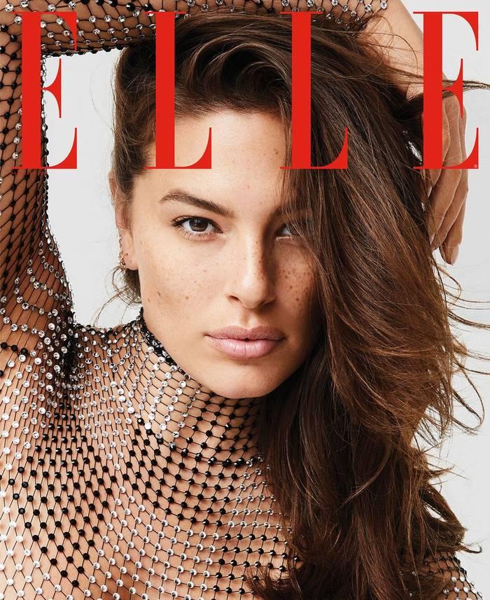 Эшли Грэм в фотосессии для февральского Elle