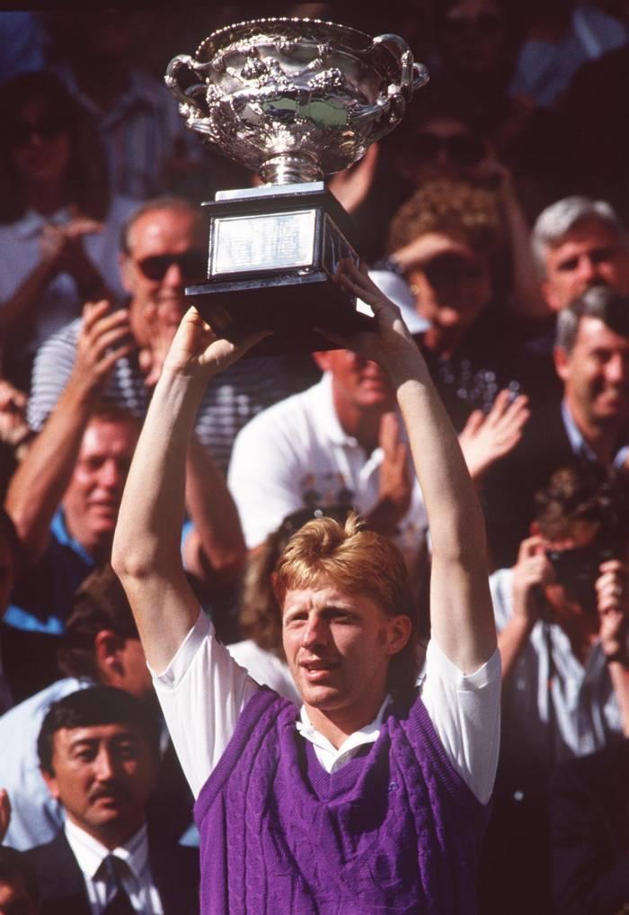 Борис Беккер после победы на Открытом чемпионате Австралии в 1991 году