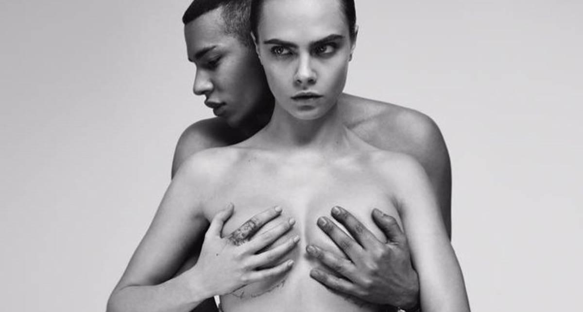 Модель Кара Делевинь сняла с себя всё в провокационной рекламе