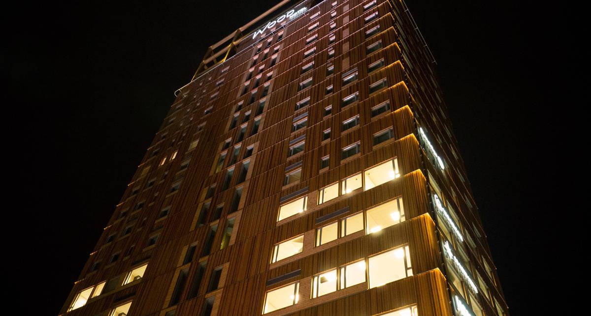 Как выглядит самое высокое здание мира, построенное из дерева?
