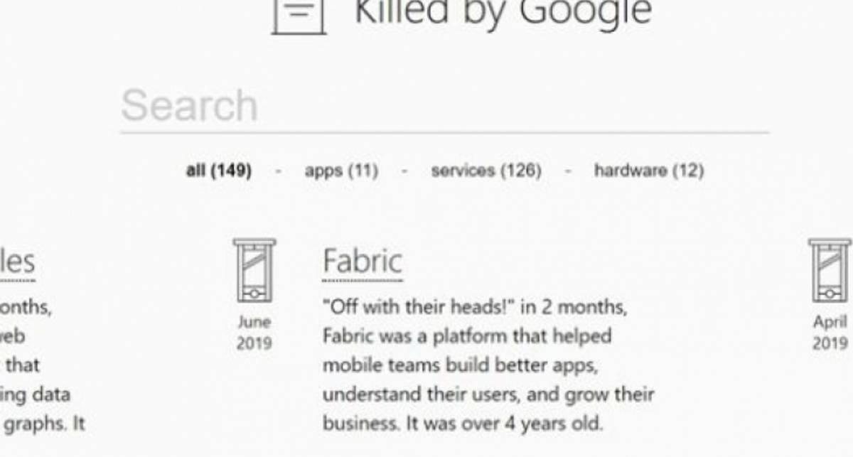 Убитые Google: интернет-гигант открыл первое цифровое кладбище