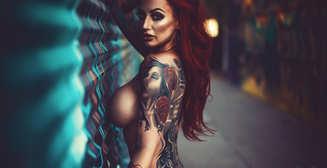 Красотка дня: татуированная модель Эми Пиклз